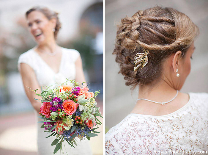03-Bridal Bouquet and Hair