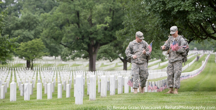 03-Flags In at Arlington for Memorial Day